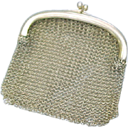 Victorian Chatelaine 14k Gold Mesh Coin Purse