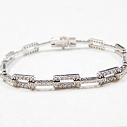 Vintage 3.24 CTW Diamond Bracelet 18k White Gold