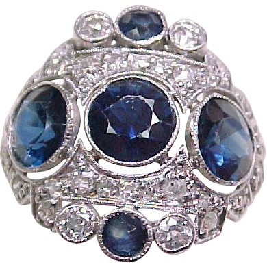 Item ID: KA 3.30 ctw Sapphire Ring In Shop Backroom