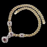 Ruby & Diamond Necklace 4.87 CTW 14k Gold