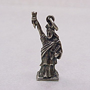 Vintage Sterling Silver Charm STATUE of LIBERTY  1950's Three Dimensional