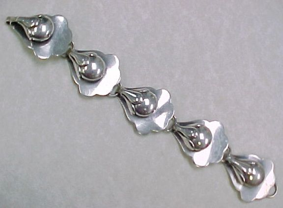 RARE Vintage Hand Wrought Sterling Bracelet by Albino Manca