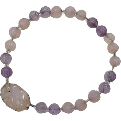 Item ID: KA Amethyst Rose Quartz NKLC In Shop Backroom