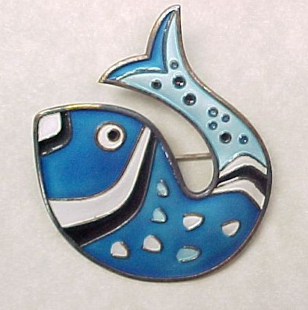 Item ID: KA Andersen Fish Brooch In Shop Backroom