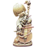 "ANRI 10"" The Quintet Carved Wood Figure By Ferrandiz"