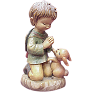 "ANRI / Ferrandiz ""The Prayer"" 6 Inch Figure, Wood Carving"