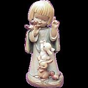 "ANRI / Ferrandiz ~ Talking To The Animals, 6"" Carved Wood Figure"