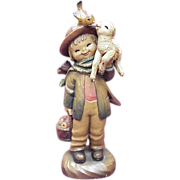"ANRI / Ferrandiz ""Friendship Shepherd"" 6 Inch Figure, Wood Carving"