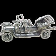 Vintage Sterling Silver Miniature 1911 Delaunay Belleville Automobile
