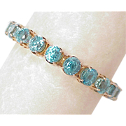 WOW 50 Carat Natural Blue Zircon Line Bracelet