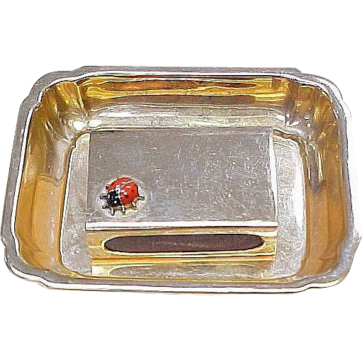 Item ID: KA Cartier Match Box & Tray In Shop Backroom
