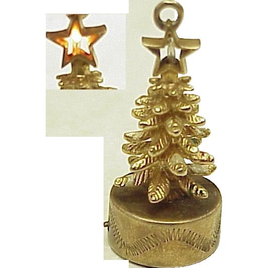Rare Litacharm 14k Gold Christmas Tree Charm 1960 From  - Christmas Tree Charms