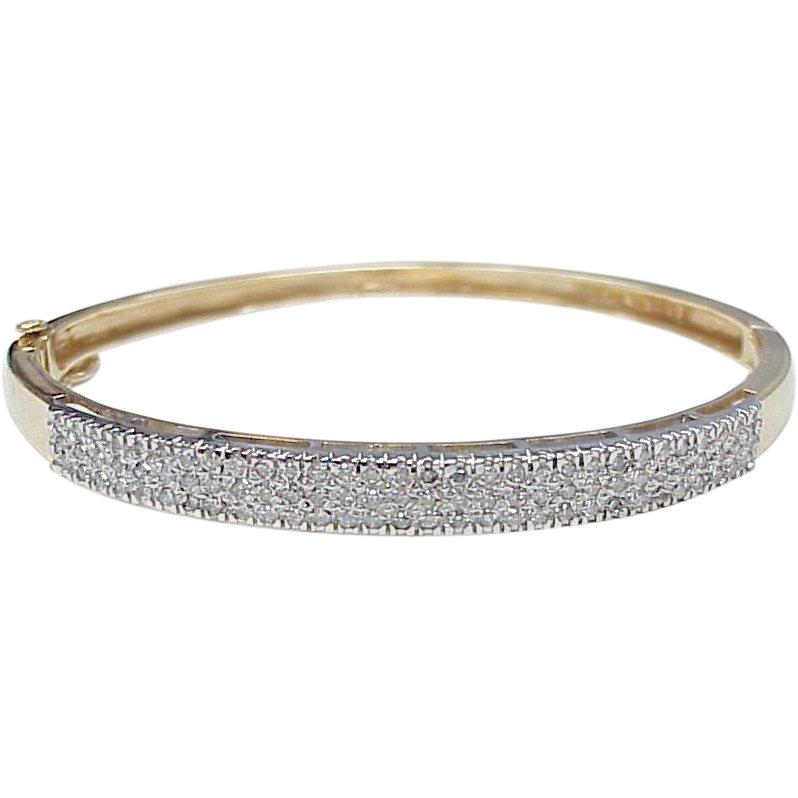 metallic diamond silver yurman bangles metro lyst david bangle tw bracelet in ct jewelry