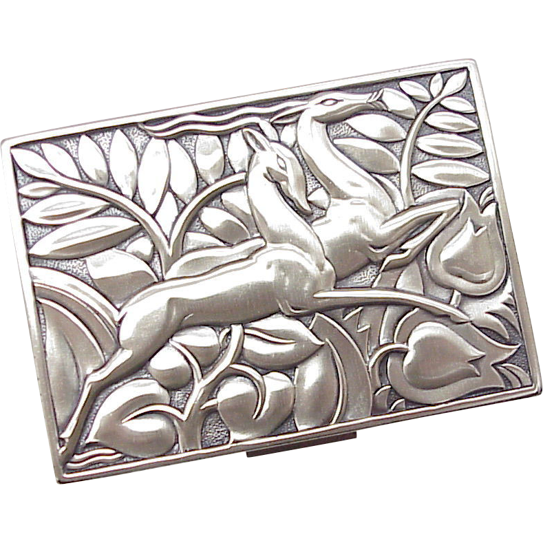 Art Deco Sterling Case by Evans AMAZING As New Condition