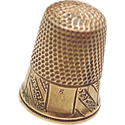 Size 6 Sewing Thimble 14k Gold