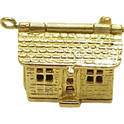 Vintage Moving Charm HOUSE Opens 14k Gold 1950's