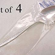 Sterling Silver Demitasse Spoons SNOWFLAKE by International