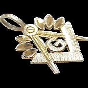 Vintage 14k Gold Masonic Charm / Pendant