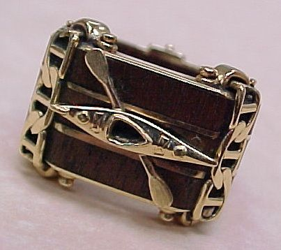 One Of A Kind Gents Ring Teak Amp 14k Gold Kayak Custom