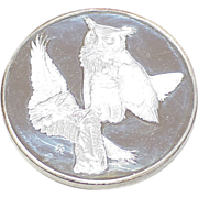 Sterling Silver Round 67.0 Grams ~ Great Horned Owl