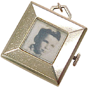 Vintage 14k Gold BIG Charm / Locket / Frame Rotating Pictures 1950's