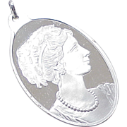 Suisse Pamp Pendant 1/2 Ounce Fine Silver CAMEO