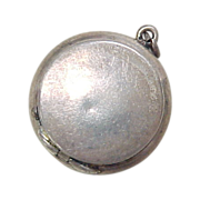 Sterling Silver Miniature Snuff / Pill Box Pendant