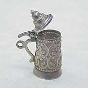 Vintage 800 Silver Moving Charm ~  Beer Stein