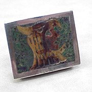 Taxco Married Metals Miniature Snuff or Pill box