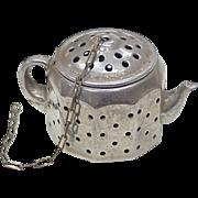 Figural Tea Ball / Infuser, Tea Pot, Sterling Silver