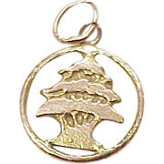 Vintage 14k Gold Charm Topiary TREE