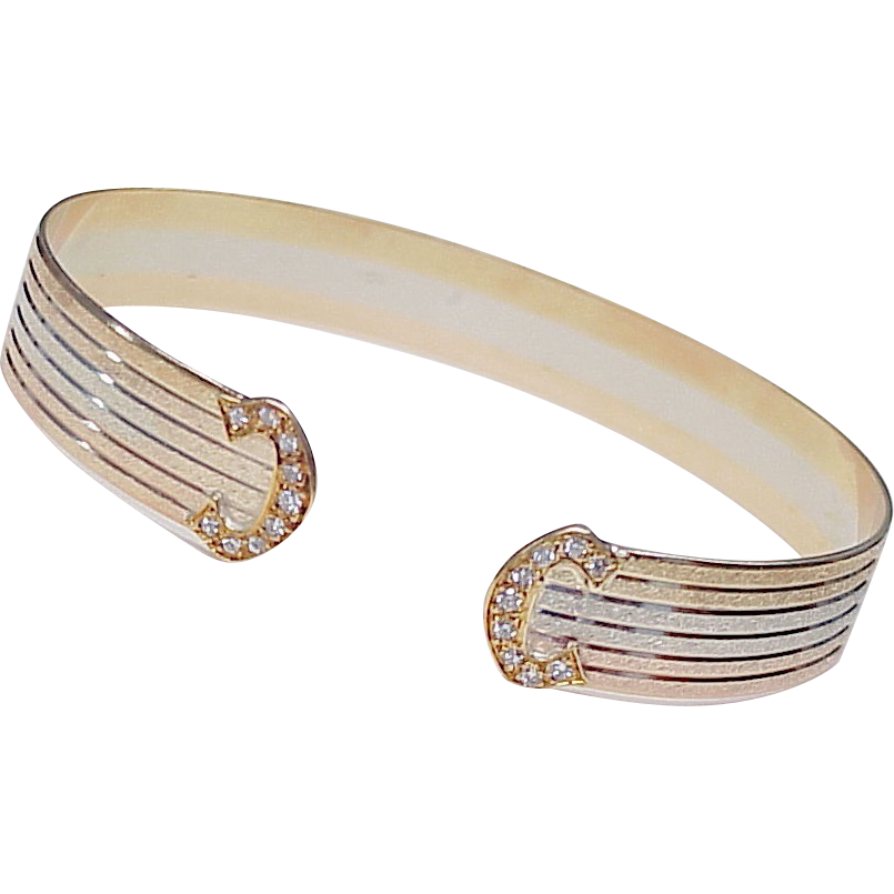 bracelet gold i woven bangle designer elite white diamond bar design