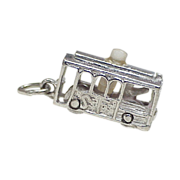San Francisco Cable Car Charm With Stanhope Viewer