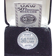 UAW 50th Anniversary Medallion 1oz Sterling Silver