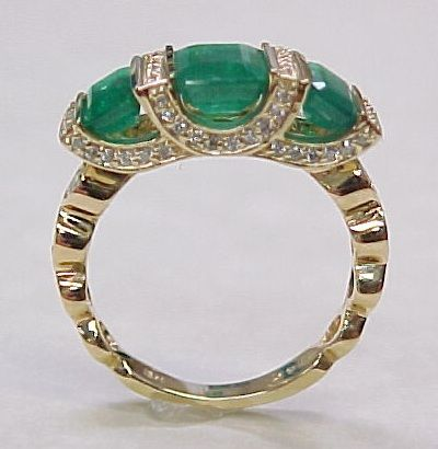 SOLD Amazing 3.0 ctw  Columbian Emerald & Diamond Ring 14K Gold