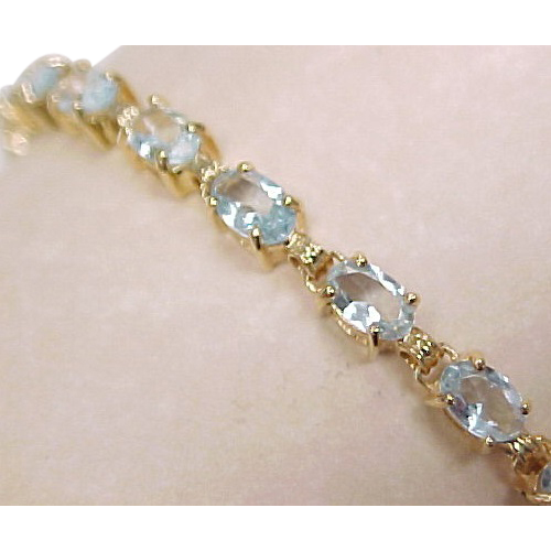 Aquamarine Line Bracelet 5 0 Carat 14k Gold Arnold Jewelers Ruby Lane