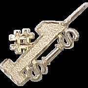 Vintage 14k Gold Charm / Pendant ~ #1 SIS, Sister