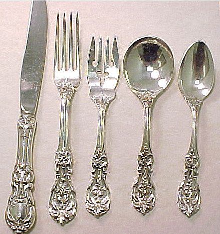 Francis 1 Sterling Silver 5 Piece Place Setting Reed & Barton, 13 Available