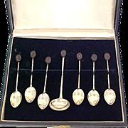 Demitasse Set 7 Piece 900 Silver by Prata De Lei in Original Box