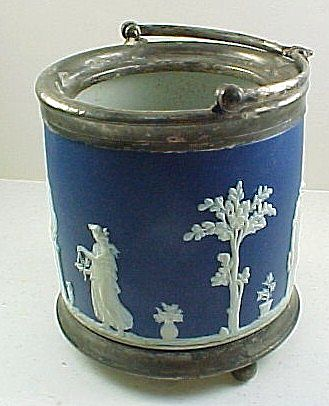 Antique 1900's England Wedgwood Dip Biscuit Barrel