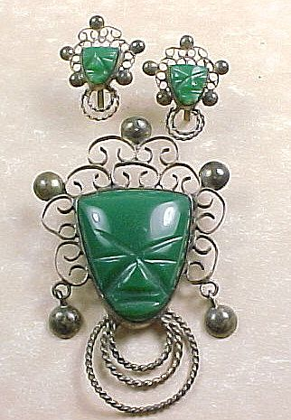 Item ID: KD chrysoprase pin earrings se In Shop Backroom