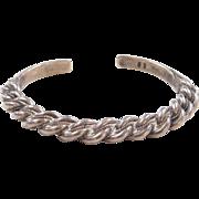 800 Silver Cuff Bracelet