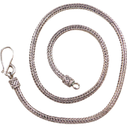 """Sterling Silver Oxidized Woven Chain ~ 18"""" ~37.5 Grams"""