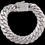 """Sterling Silver Men's Curb Link Bracelet ~ 7 1/2"""""""