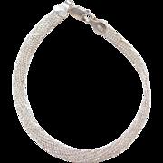 "Sterling Silver Mesh Bracelet ~ 7 1/2"""
