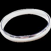 """Sterling Silver Hinged Bangle Bracelet ~ 7"""""""