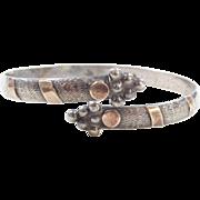 Sterling Silver Cuff Bracelet ~ Two-Tone