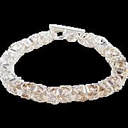 """Sterling Silver Fancy Byzantine Bracelet 8 1/4"""""""