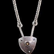 "Sterling Silver Modernist Necklace ~ 19"""