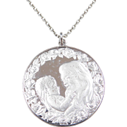 """Sterling Silver Mothers Day 1975 Necklace ~ 24"""""""